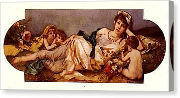 Ernst Rudolf Odalisque Avec Puttis Canvas Print