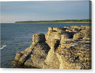 Canvas Print featuring the photograph Eroded Cliff Formations by Kennerth and Birgitta Kullman