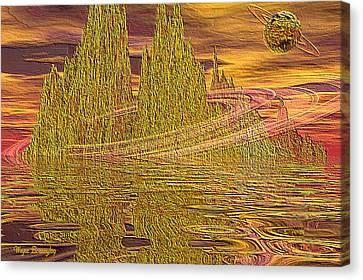 Eroding Gold Canvas Print