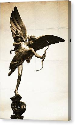 Eros Statue Canvas Print by Neil Overy