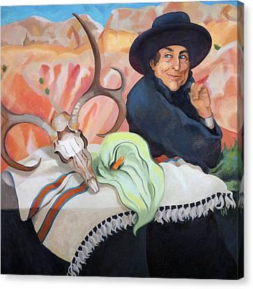 Eros, Thanatos And Georgia O'keeffe Canvas Print