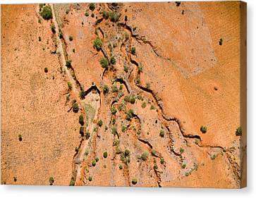 Erosion From Agricultural Use Canvas Print by Michael Fay
