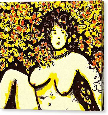 Erotic Desire Canvas Print by Natalie Holland