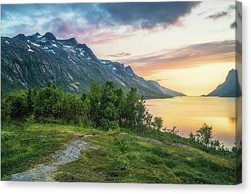 Ersfjord Sunset Canvas Print