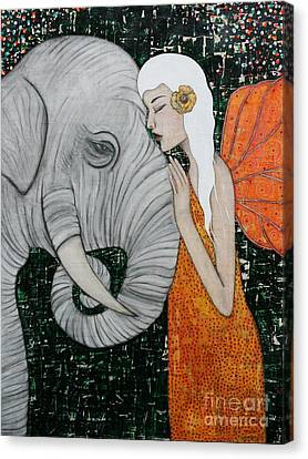 Elephants Canvas Print - Erynn Rose by Natalie Briney