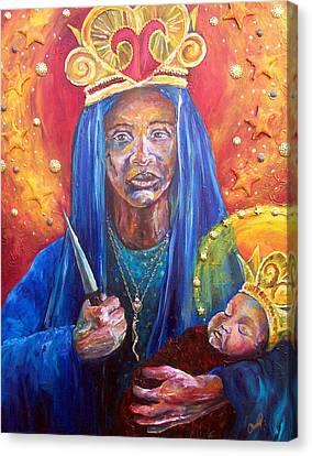 Haitian Canvas Print - Erzulie Dantor Portrait by Christy  Freeman