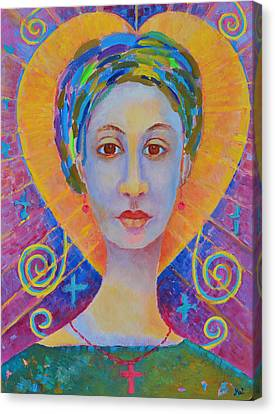 Erzulie Freda Painting. Ezili Freda Portrait Made In Poland By Polish Artist Magdalena Walulik Canvas Print by Magdalena Walulik