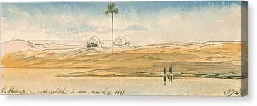 Es Shoorafa, Near Mensheeh Canvas Print by Edward Lear