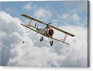 Escadrille Lafayette - Hunters Canvas Print by Pat Speirs