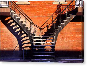 Escaliers A Paradis. Stairway's To Heaven  Canvas Print