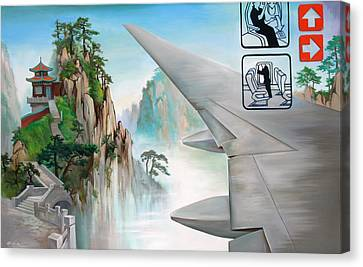 Canvas Print featuring the painting Escape by Dave Platford