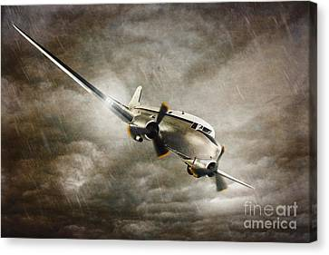 Escape From The Storm Canvas Print by Amanda Elwell