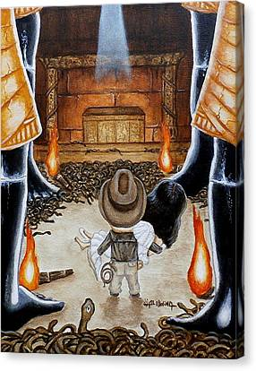 Escape From The Well Of Souls Canvas Print by Al  Molina