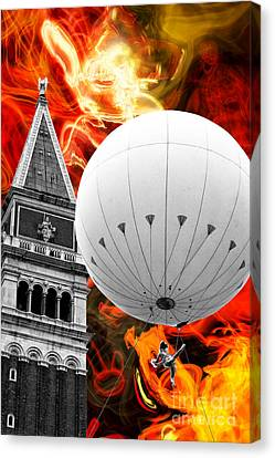 Fire Escape Canvas Print - Escape From Venice by John Rizzuto