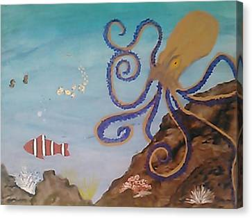 Clown Fish Canvas Print - Escape by Jennifer Irene Stuart