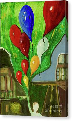 Canvas Print featuring the painting Escape by Paul McKey