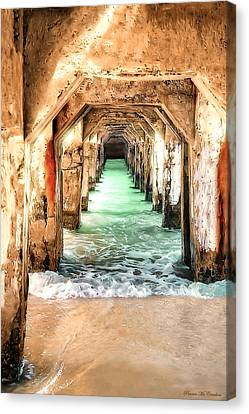 Canvas Print featuring the digital art Escape To Atlantis by Pennie  McCracken