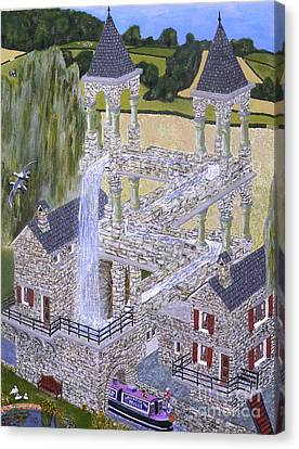 Escher's Mill Landscaped And Painted By Eric Kempson Canvas Print