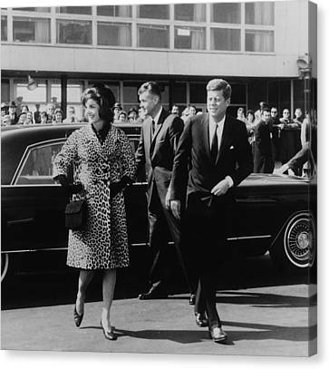 Escorted By President Kennedy Canvas Print