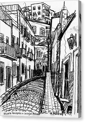 Escuela Mexicana Canvas Print by Rich Travis