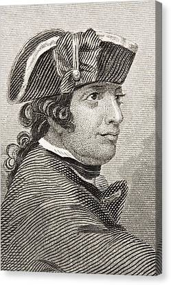 Esek Hopkins 1718 -1802. Commander In Canvas Print by Vintage Design Pics