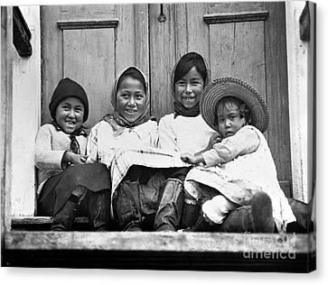 Eskimo Children, 1925 Canvas Print