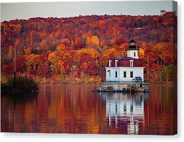 Esopus Lighthouse In Late Fall #1 Canvas Print by Jeff Severson