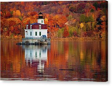 Esopus Lighthouse In Late Fall #2 Canvas Print by Jeff Severson