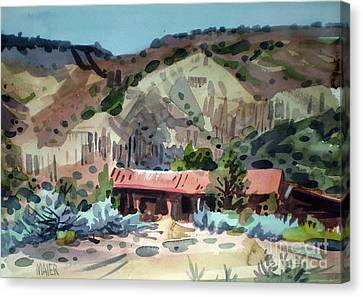 Espanola On The Rio Grande Canvas Print by Donald Maier