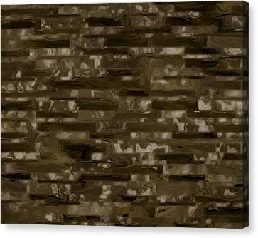 Espresso Brown Marble Collection Canvas Print by Lee Ann Asch