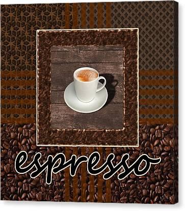 Drink Canvas Print - Espresso - Coffee Art by Anastasiya Malakhova