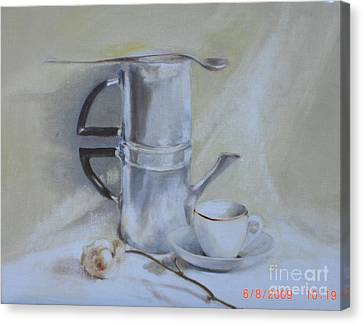 Espresso For One          Copyrighted Canvas Print by Kathleen Hoekstra