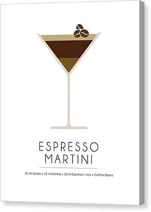 Espresso Martini Classic Cocktail - Minimalist Print Canvas Print