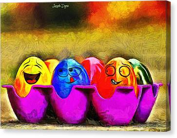 Ester Eggs - Pa Canvas Print by Leonardo Digenio