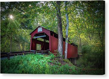 Canvas Print featuring the photograph Esther Furnace Bridge by Marvin Spates