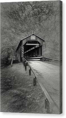 Covered Bridges Canvas Print - Esther Furnace No 8 by Marvin Spates