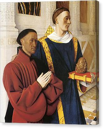 Estienne Chevalier With St. Stephen Canvas Print