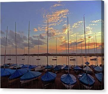 Canvas Print featuring the photograph Estuary Evening by Anne Kotan
