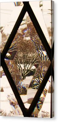 Etched Window View Canvas Print
