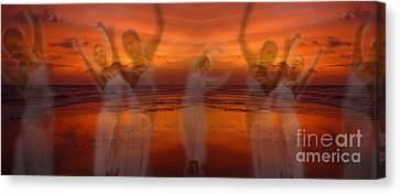 Ballet Dancers Canvas Print - Eternal Dance by Jeff Breiman