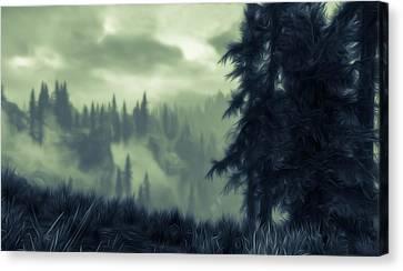 Eternal Shadow Falls  Canvas Print by Andrea Mazzocchetti