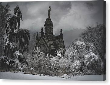 Canvas Print featuring the digital art Eternal Winter by Chris Lord