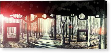 Canvas Print featuring the photograph Eternity, Conceptual Background by Ariadna De Raadt
