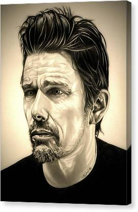 Ethan Hawke Canvas Print by Fred Larucci