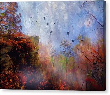 Ethereal Autumn Canvas Print by Georgiana Romanovna