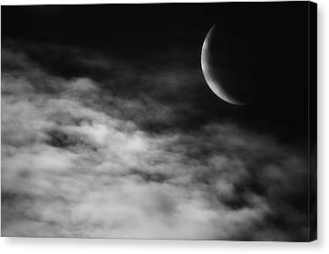 Glowing Moon Canvas Print - Ethereal Crescent Moon by Bill Wakeley