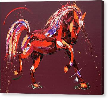 Jumping Horse Canvas Print - Ethereal Dream by Penny Warden