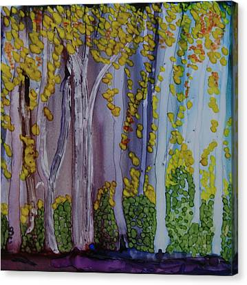 Canvas Print featuring the painting Ethereal Forest by Suzanne Canner