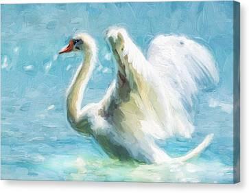 Ethereal Swan Canvas Print by Georgiana Romanovna