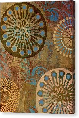 Moroccan Canvas Print - Etheric Circles Ethnic Art Pattern by Mindy Sommers